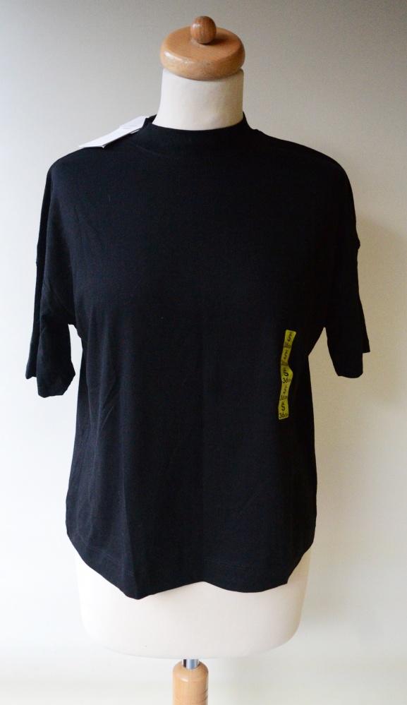 Bluzka NOWA Czarna Bershka S 36 Oversize T Shirt Luzna...