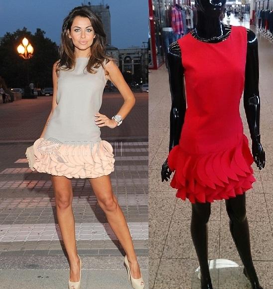 Suknie i sukienki Sukienka z falbanami Siwiec