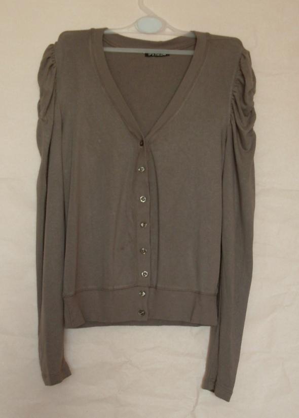 Brązowy delikatny sweterek sweter rozpinany S M