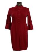 Ciepły Długi Czerwony Sweter S M...