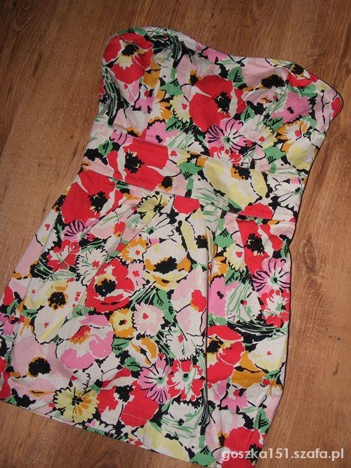 Suknie i sukienki PIĘKNA KWIATOWA SUKIENKA S
