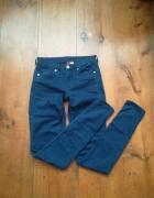 Modne granatowe rurki jeans H&M S M