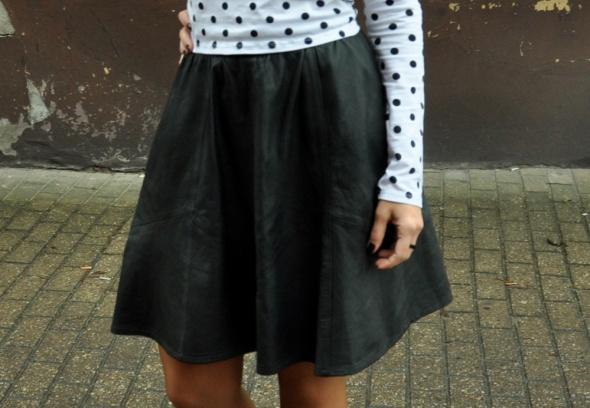 Spódnice czarna spódnica ze skóry