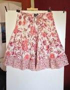 Fioletowo rozowa spodnica rozkloszowana 38 40...
