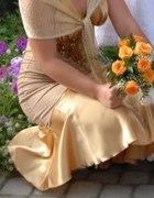 złota sukienka 38