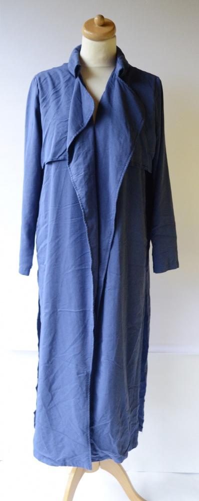 Płaszcz Narzutka Gina Tricot L 40 Niebieski Long Elegancki...