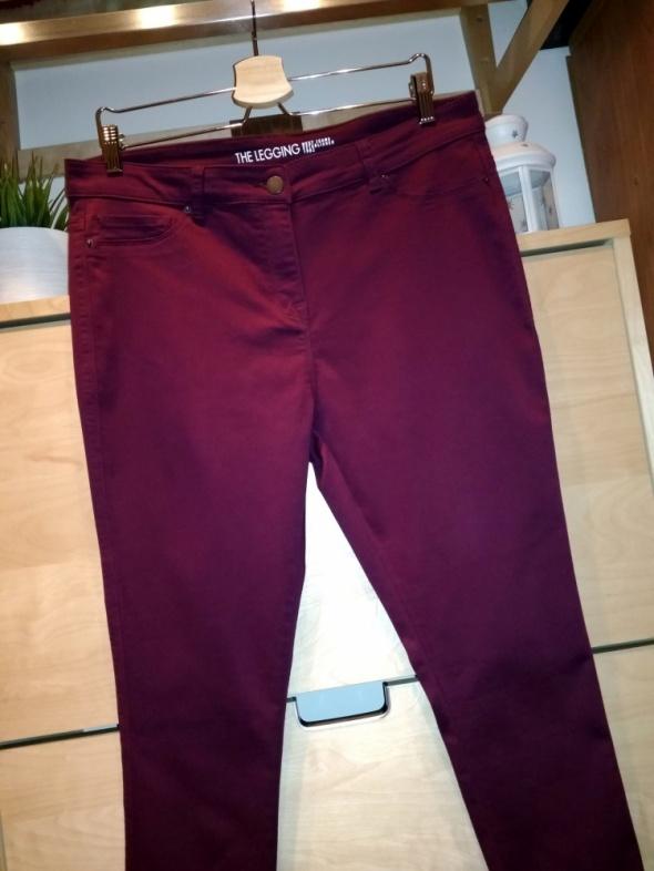 Spodnie Piękne bordowe spodnie jegginsy damskie Next rozmiar 44