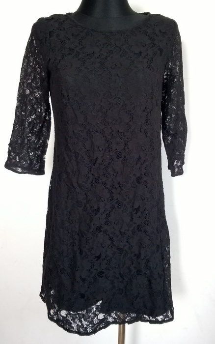 Suknie i sukienki George koronkowa czarna sukienka M
