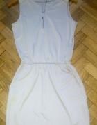 Szara perłowa sukienka Mohito