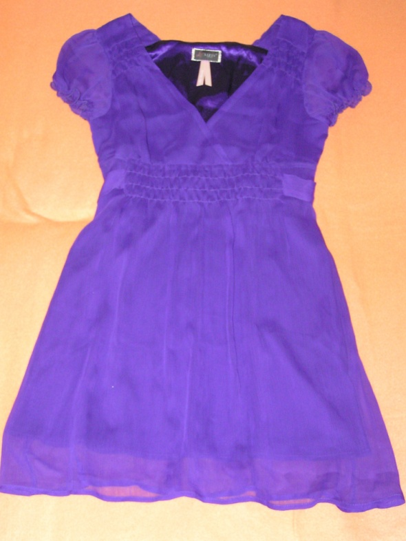LISPY LONDON śliczna fioletowa sukienka na wesele...