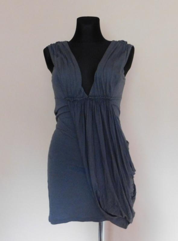 Miss Selfridge szara sukienka mini 38 40...