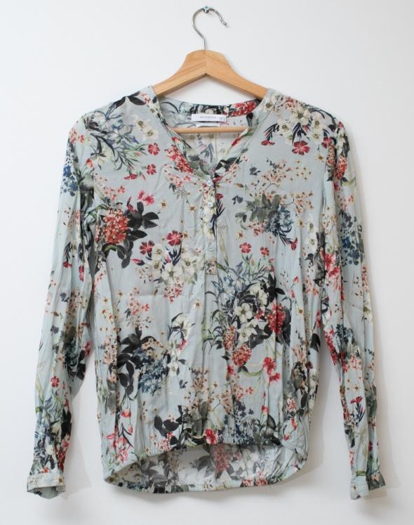 Koszule Reserved bluzka koszula wiskoza błękitna elegancka
