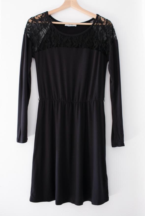 Liu Jo czarna sukienka z koronką Nowa