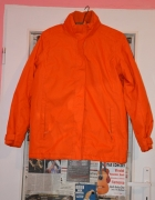 Neonowa pomarańczowa zimowa kurtka