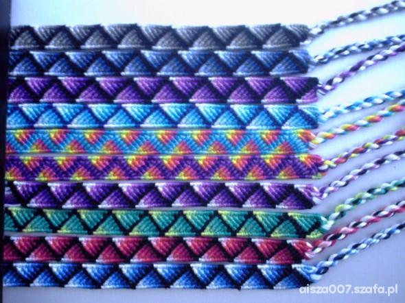 bransoletki z muliny cieniowane trójkąty