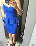 AGGI XS 34 sukienka mini gorsetowa z baskinka...