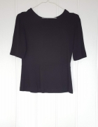 Czarna bluzka z baskinka 40 L...