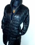 Elegancka czarna kurtka płaszczyk...