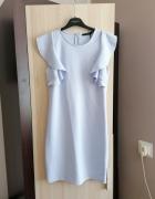 Błękitna sukienka MOHITO...