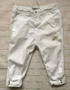 NIKE spodnie treningowe białe