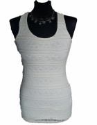 Okazja Atmosphere NOWA koronkowa kremowa bokserka tunika mini sukienka wycięte plecy M
