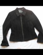 LIZ CLAIRBORNE kurtka czarna skóra zamsz PIĘKNA 38...