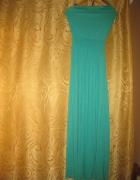 zielona sukienka dluga przewiewna NeXT