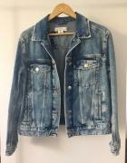 Kurtka jeansowa typu oversize z haftem rozm 38...