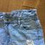 Jeansowe spodenki z przetarciami RESERVED rozm 42