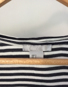 Koszulka w marynarskim stylu z kieszonką H&M rozmiar S