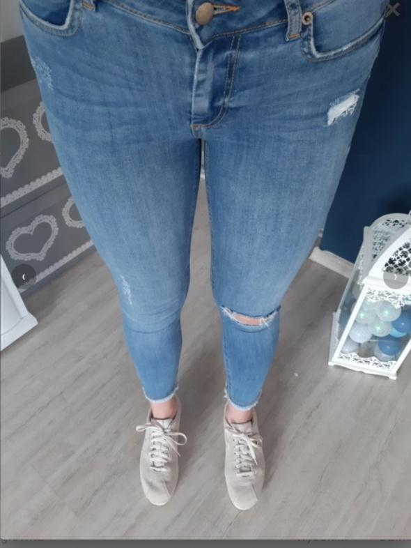 Spodnie jeansy wysoki stan