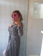 Sukienka midi rozpinana serduszka XL