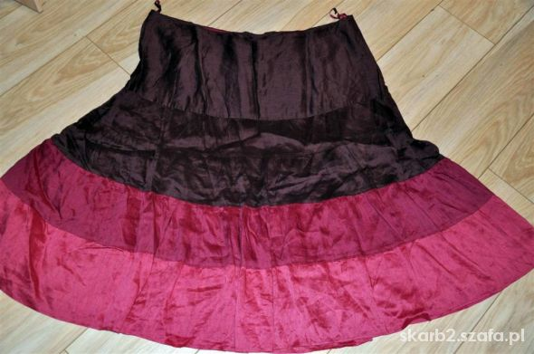 spódnica w falbany różowa cieniowana 50 52...