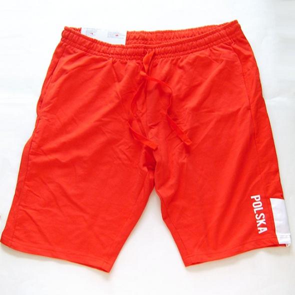 czerwone szorty XL dresowe spodenki XL czerwone spodenki dresowe