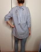 Bawełniana koszula w paski Mohito wiązana z tyłu rozmiar 36...