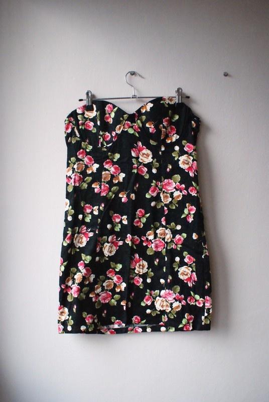 Sukienka mini ASOS floral UK10 Sylwester studniówka...