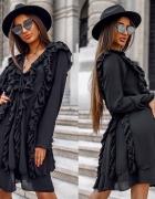 sukienka falbanki czarna 36 38...