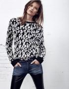Sweter z grubej dzianiny w cętki MANGO...