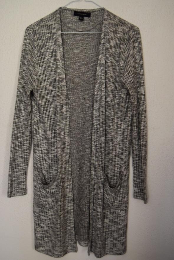 Długi sweter szary nowy melanż long knit 38 M