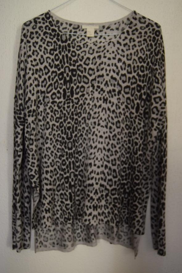 Bluzka oversize H&M panterka XS szara