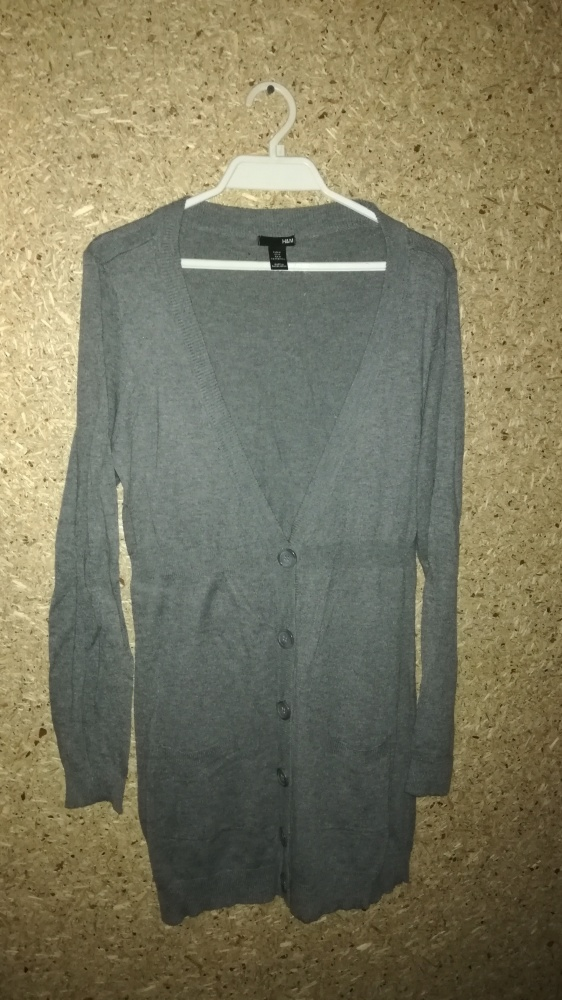H&M Szary długi rozpinany sweter 38...
