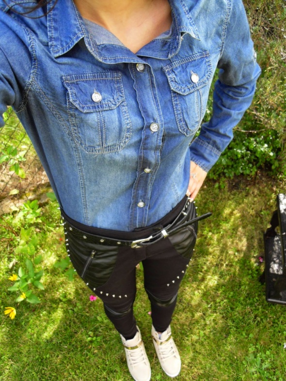 Dłuższa koszula jeansowa dżinsowa M