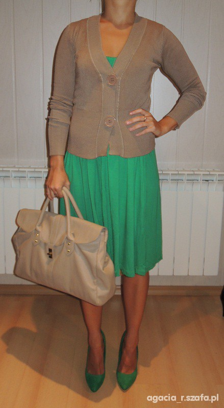 zielona sukienka Orsay