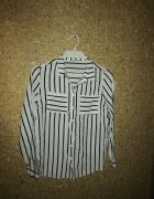 House Biała koszula w czarne pasy 38...