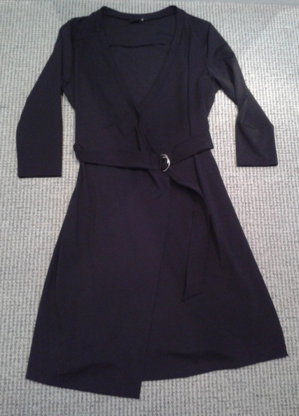 Sukienka KAPPAHL L 40 czarna kopertowa z paskiem