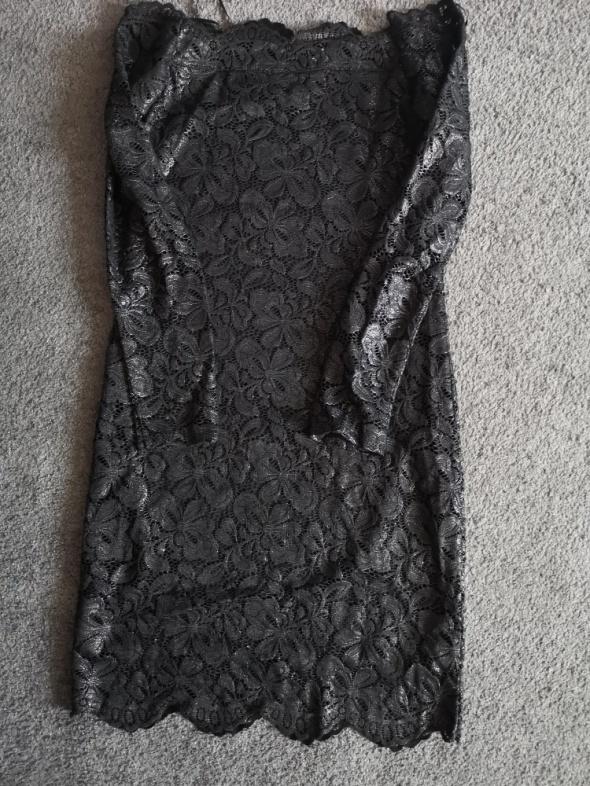 Suknie i sukienki Czarna koronkowa sukienka hm