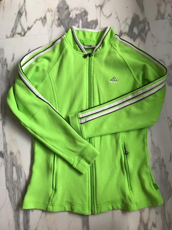 używana neonowa zielona bluza Adidas oryginalna seledynowa S M...