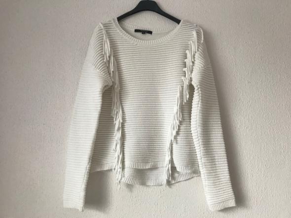biały ecru sweter Reserved 36 S...
