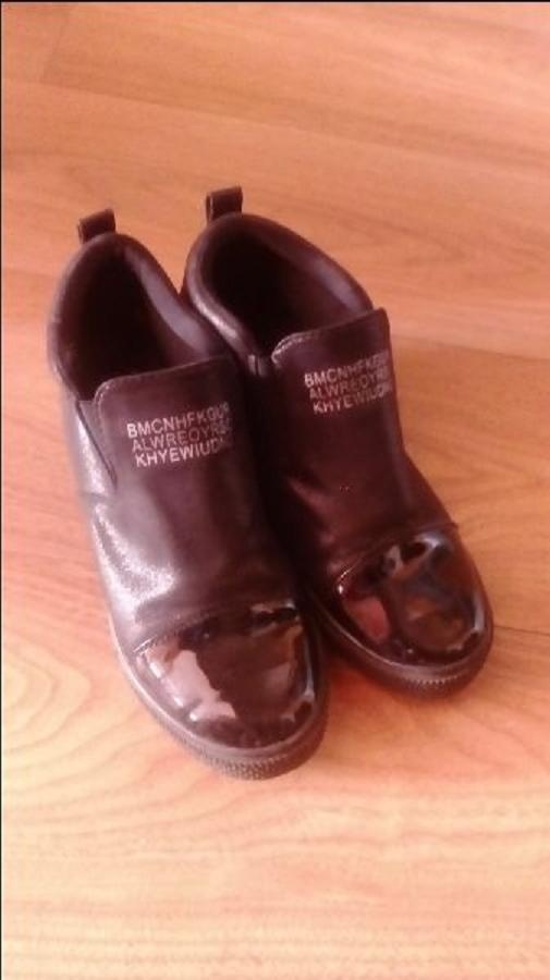 Sneakersy czarne 38