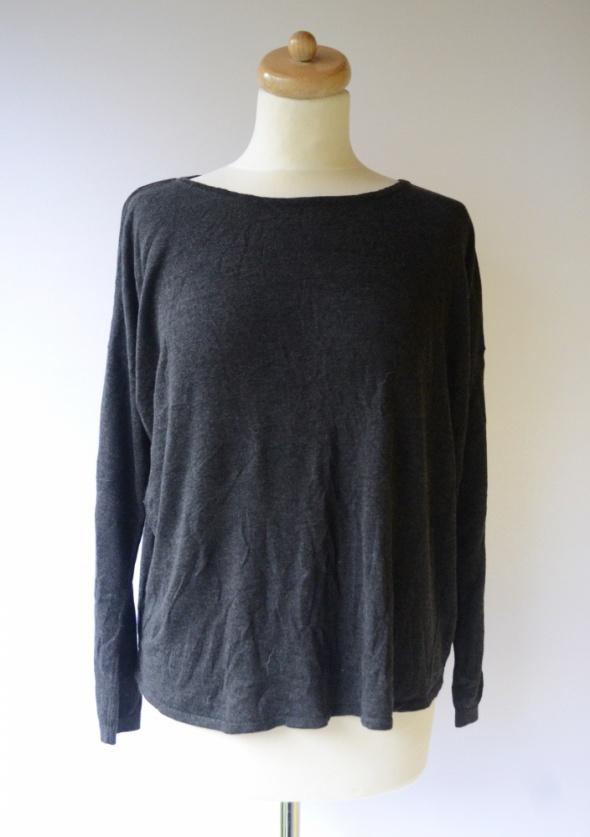 Sweter Oversize H&M Basic M 38 Szary Luzny Grafitowy...